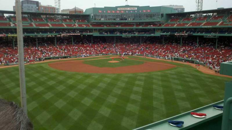 Vue de la place pour Fenway Park Section BM