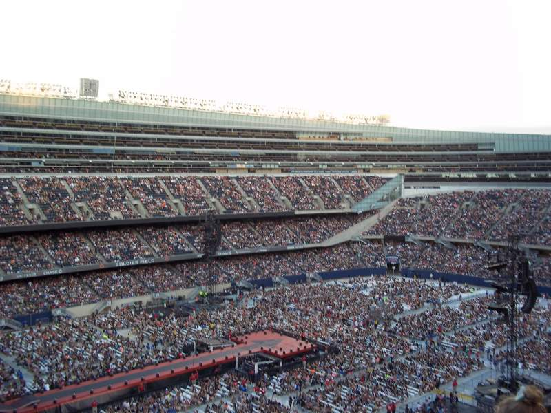 Soldier Field, section: 443, rangée: 11