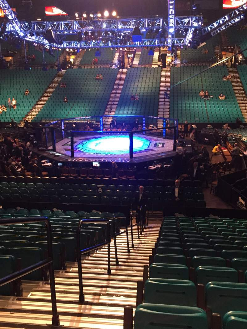 Seating View For MGM Grand Garden Arena Section 11 Row S Seat 17