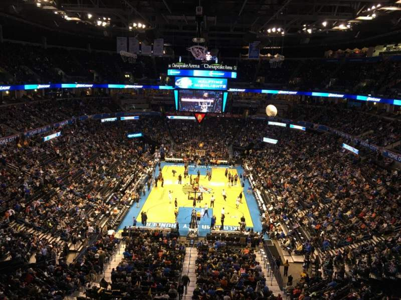 Chesapeake Energy Arena, section: 316