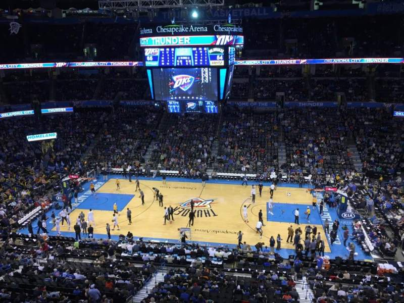 Chesapeake Energy Arena, section: 323