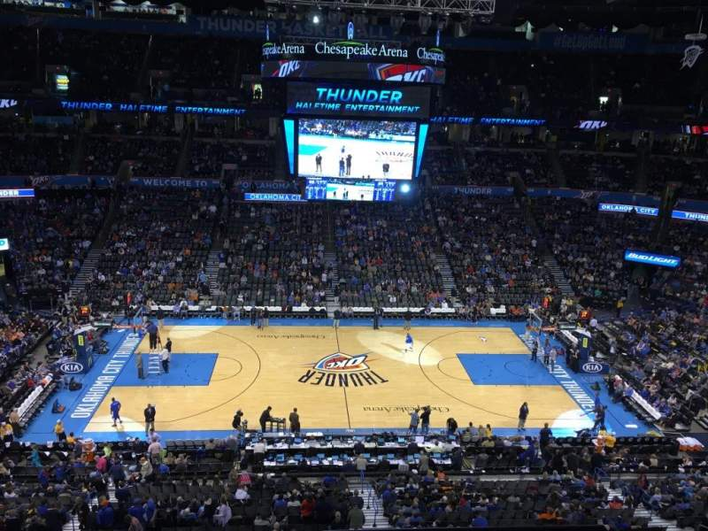 Chesapeake Energy Arena, section: 324