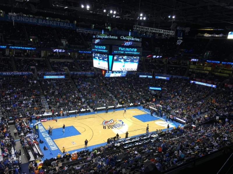 Chesapeake Energy Arena, section: 326
