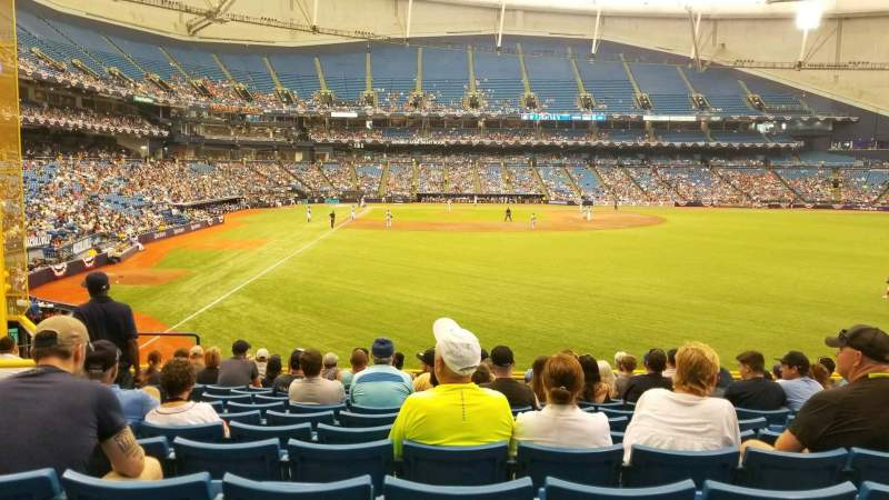 Tropicana Field, section: 142, rangée: FF, siège: 8