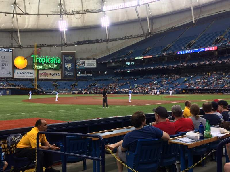 Tropicana Field, section: 127, rangée: G, siège: 21