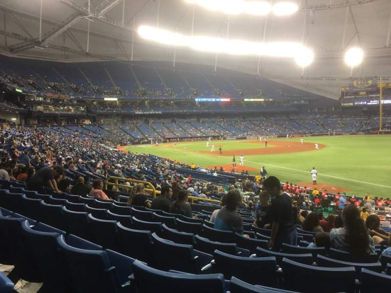 Tropicana Field, section: 138, rangée: JJ, siège: 11
