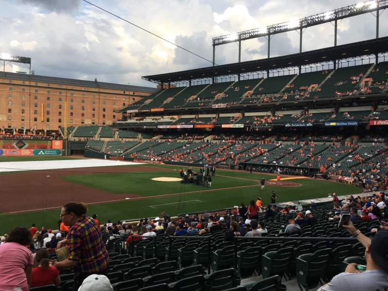 Oriole Park at Camden Yards, section: 58, rangée: 28, siège: 6