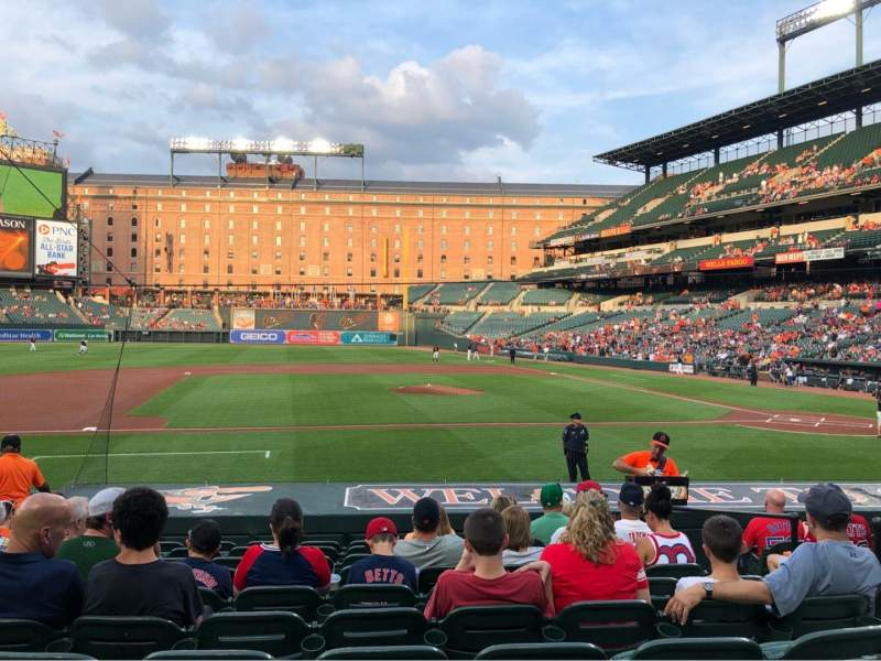 Oriole Park at Camden Yards, section: 52, rangée: 10, siège: 5