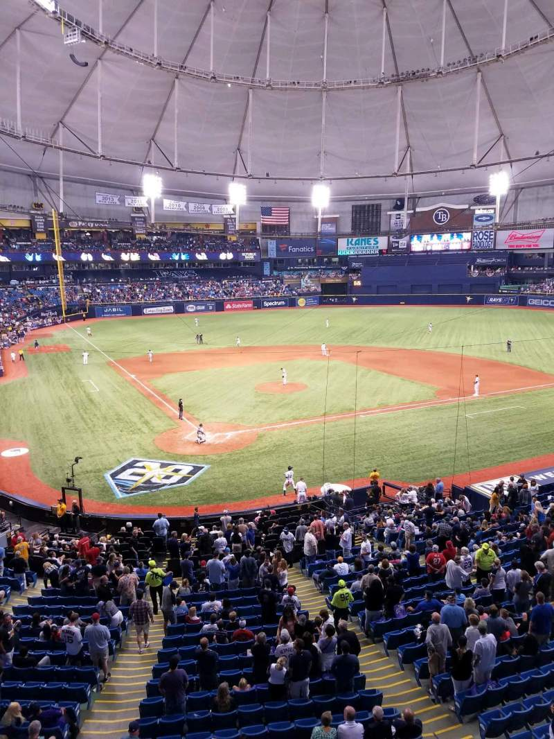 Tropicana Field, section: 204, rangée: A, siège: 4