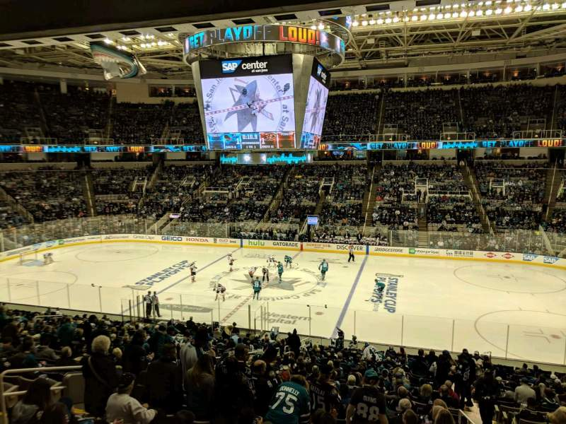 SAP Center at San Jose, section: C10, rangée: 1, siège: 10
