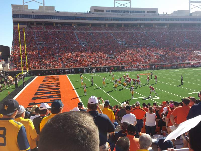 Boone Pickens Stadium, section: 227, rangée: 2, siège: 8