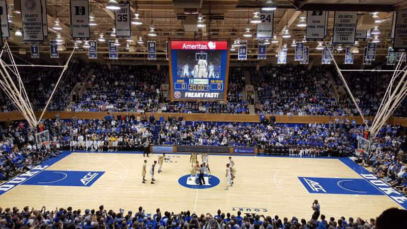 Cameron Indoor Stadium, section: 15, rangée: M, siège: 18