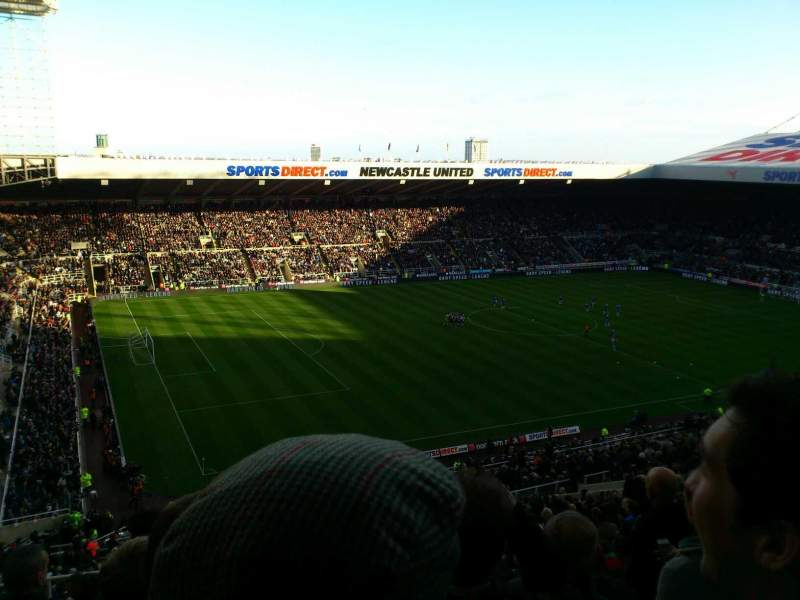 Vue de la place pour St James' Park Section exec box Rangée millburn s