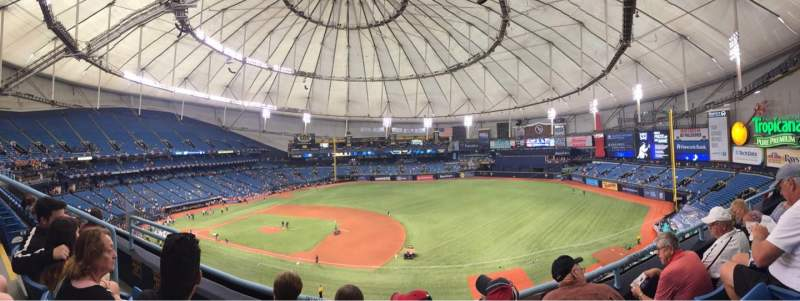 Tropicana Field, section: 316, rangée: C, siège: 6