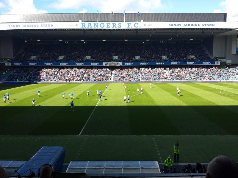 Ibrox Stadium, section: Main Stand Front, rangée: C