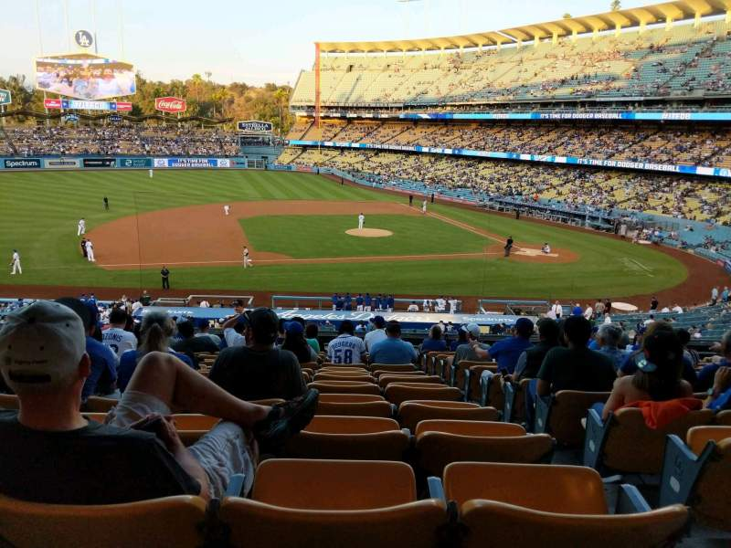 Dodger Stadium, section: 133LG, rangée: O, siège: 2