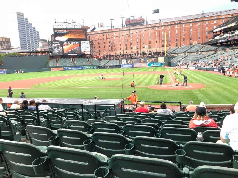 Oriole Park at Camden Yards, section: 46, rangée: 15, siège: 4