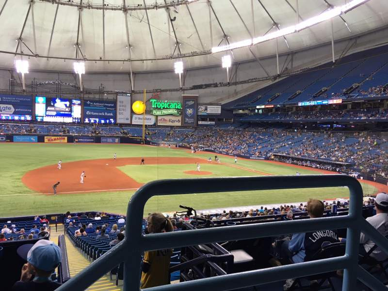Tropicana Field, section: 121, rangée: PP, siège: 9