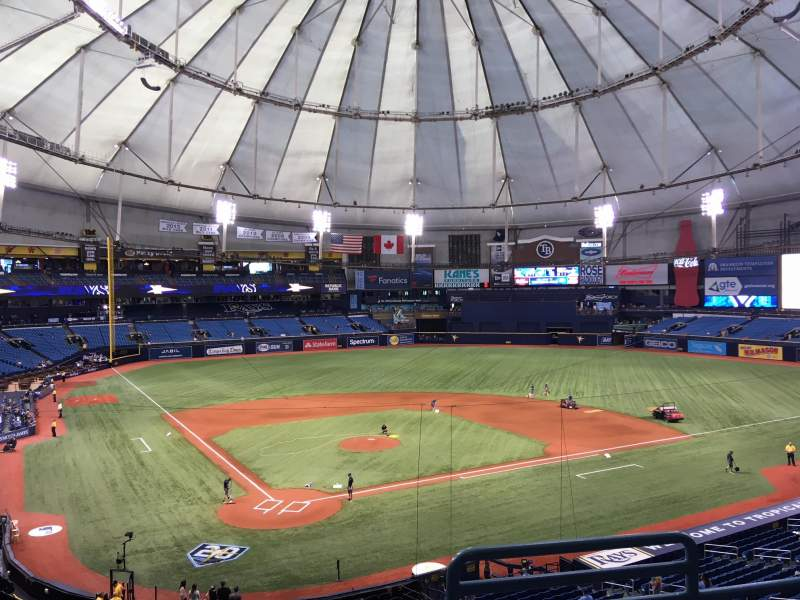 Tropicana Field, section: 204, rangée: D, siège: 7