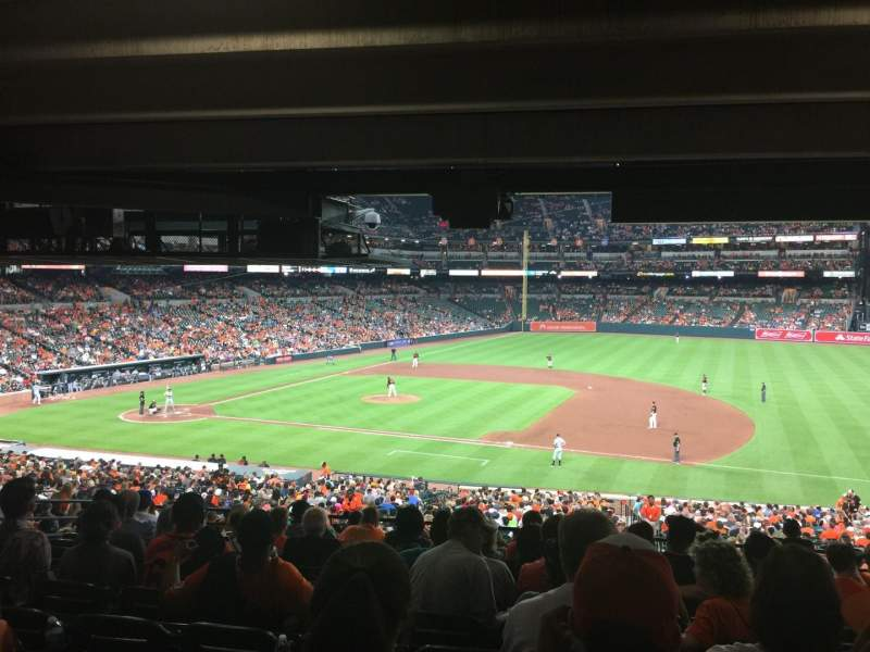 Oriole Park at Camden Yards, section: 17, rangée: 11, siège: 8