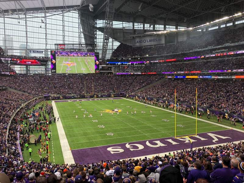 U.S. Bank Stadium, section: 122, rangée: 37, siège: 5
