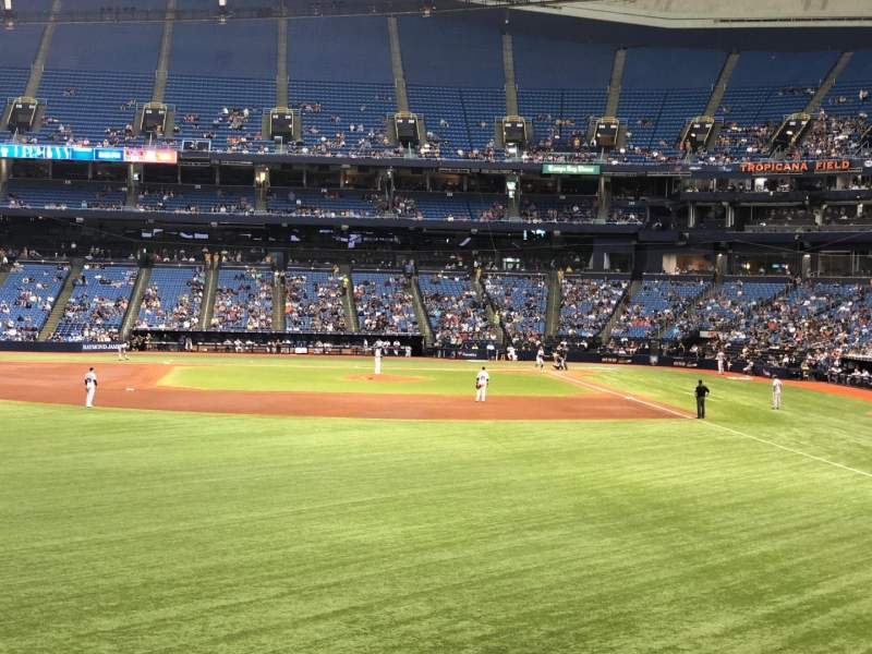 Tropicana Field, section: 143, rangée: AA, siège: 18
