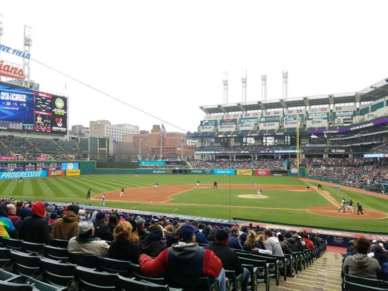 Progressive Field, section: 158, rangée: GG, siège: 15