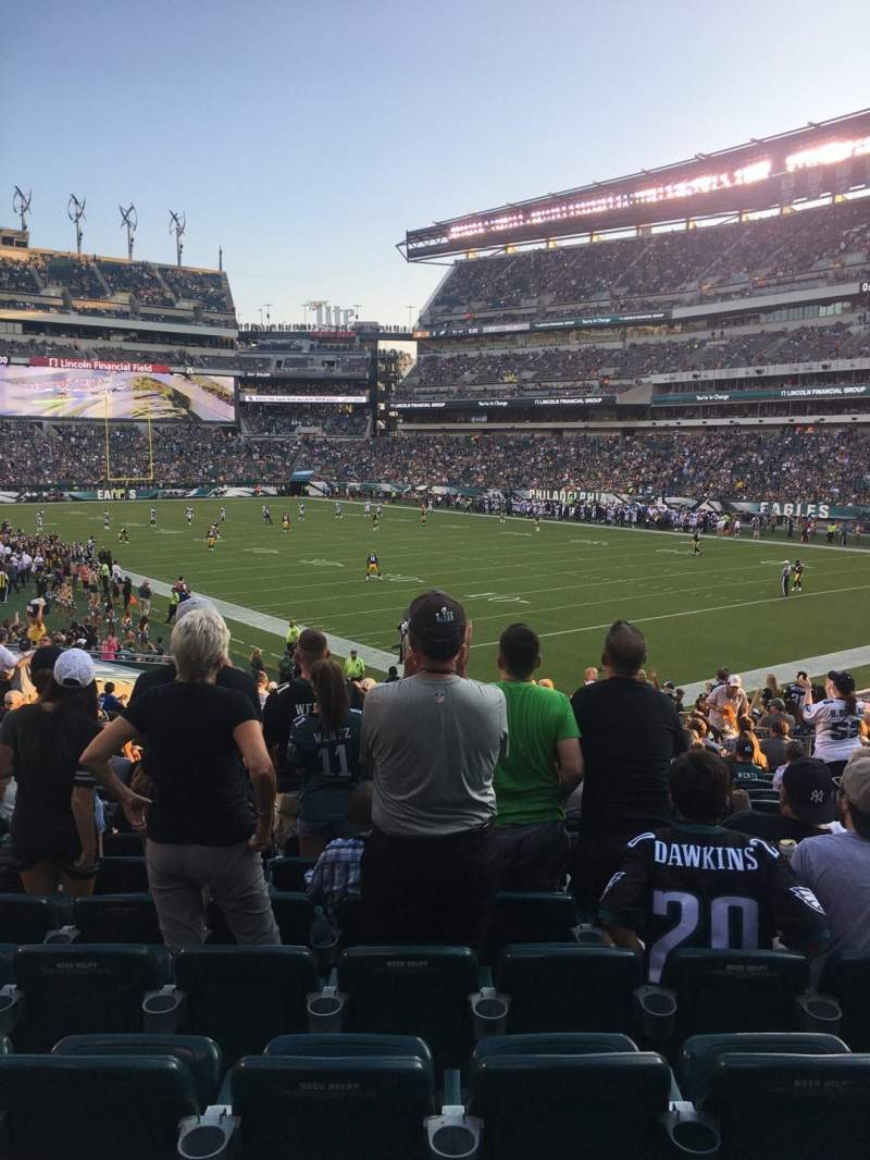 Vue de la place pour Lincoln Financial Field Section 126 Rangée 26 Siège 9