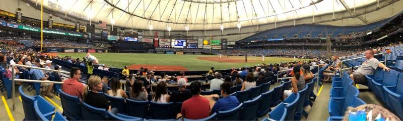 Tropicana Field, section: 125, rangée: K, siège: 4