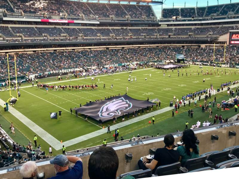 Vue de la place pour Lincoln Financial Field Section C35 Rangée 5 Siège 15