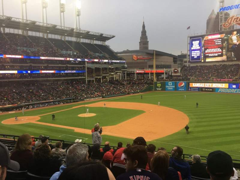 Progressive Field, section: 336, rangée: J, siège: 2