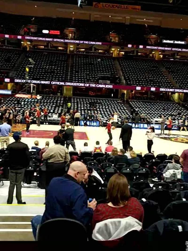 Quicken Loans Arena, section: 108, rangée: 8, siège: 1