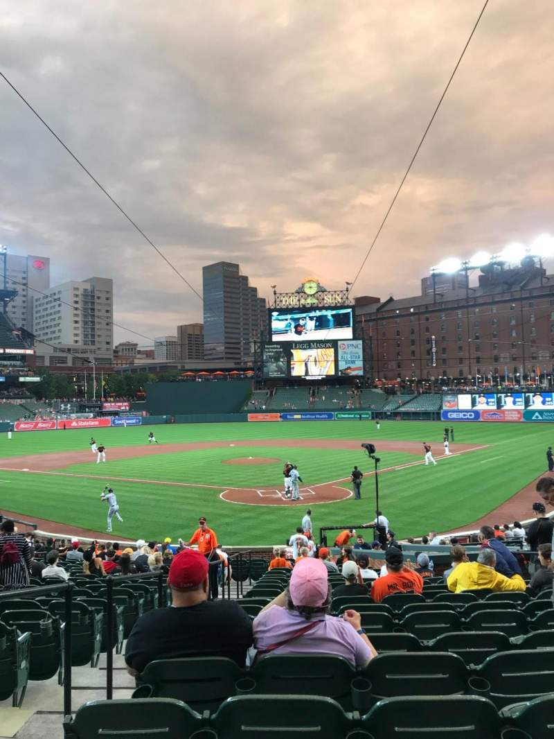 Oriole Park at Camden Yards, section: 38, rangée: 24, siège: 9