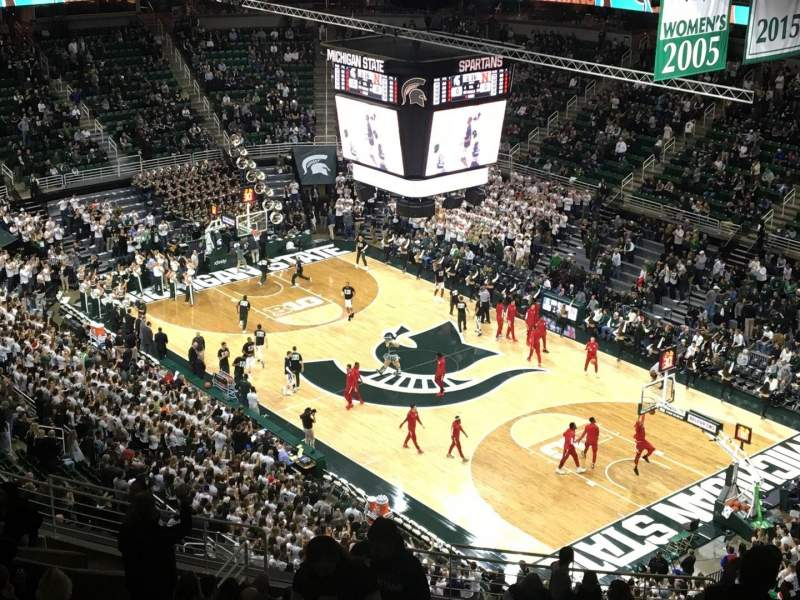 Breslin Center, section: 205, rangée: 17, siège: 2