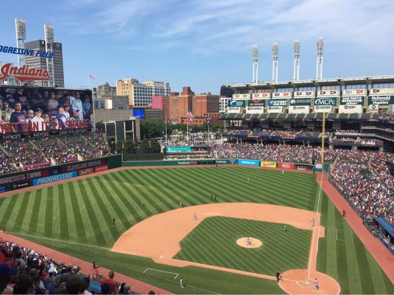 Progressive Field, section: 558, rangée: G, siège: 7