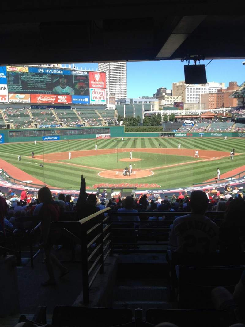 Progressive Field, section: 253, rangée: E, siège: 15