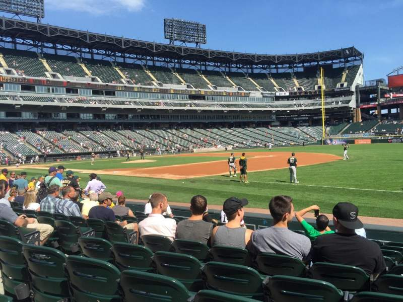 Guaranteed Rate Field, section: 118, rangée: 9, siège: 1