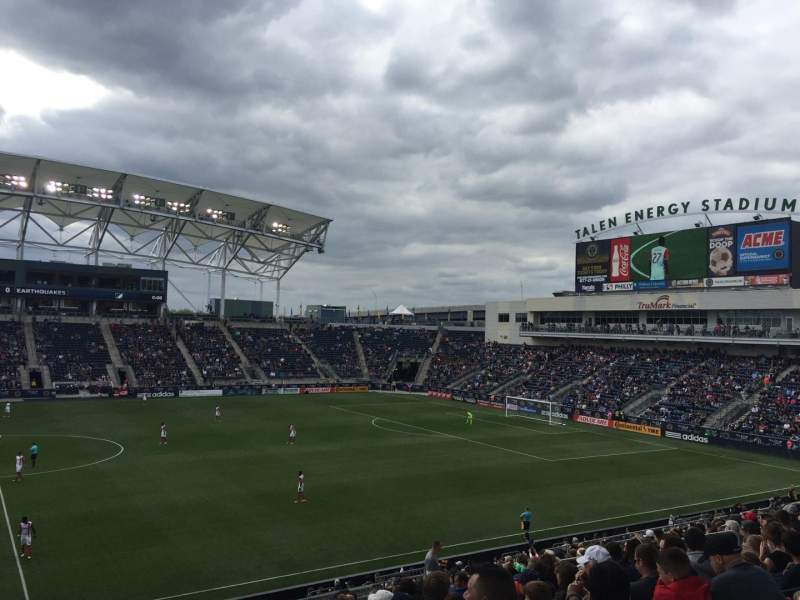 Talen Energy Stadium, section: 127, rangée: AA, siège: 18