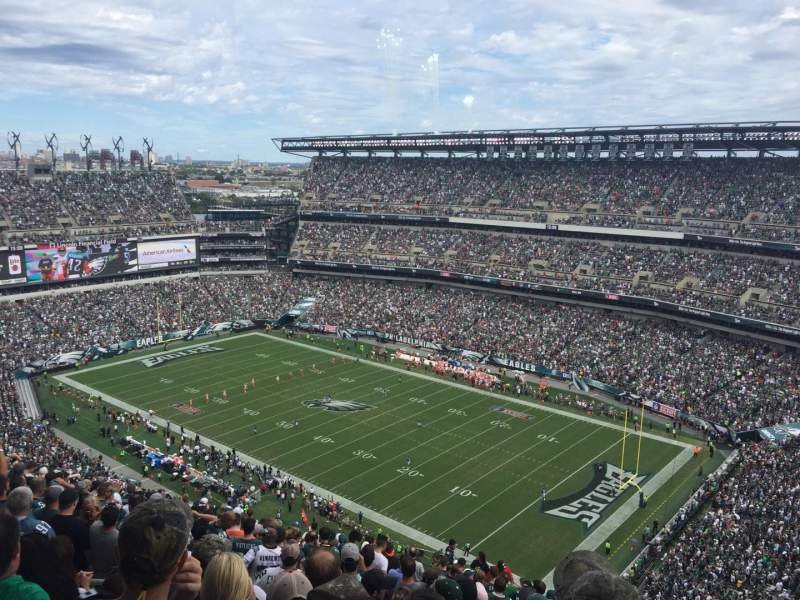 Lincoln Financial Field, section: 207, rangée: 25, siège: 18