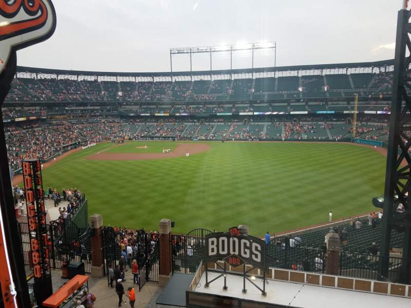 Vue de la place pour Oriole Park at Camden Yards Section B & O Warehouse