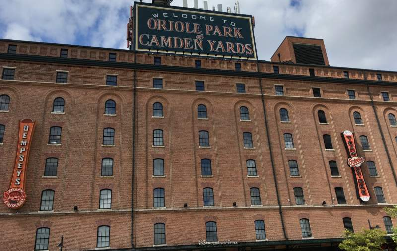 Vue de la place pour Oriole Park at Camden Yards Section WAREHOUSE Rangée EXTERIOR