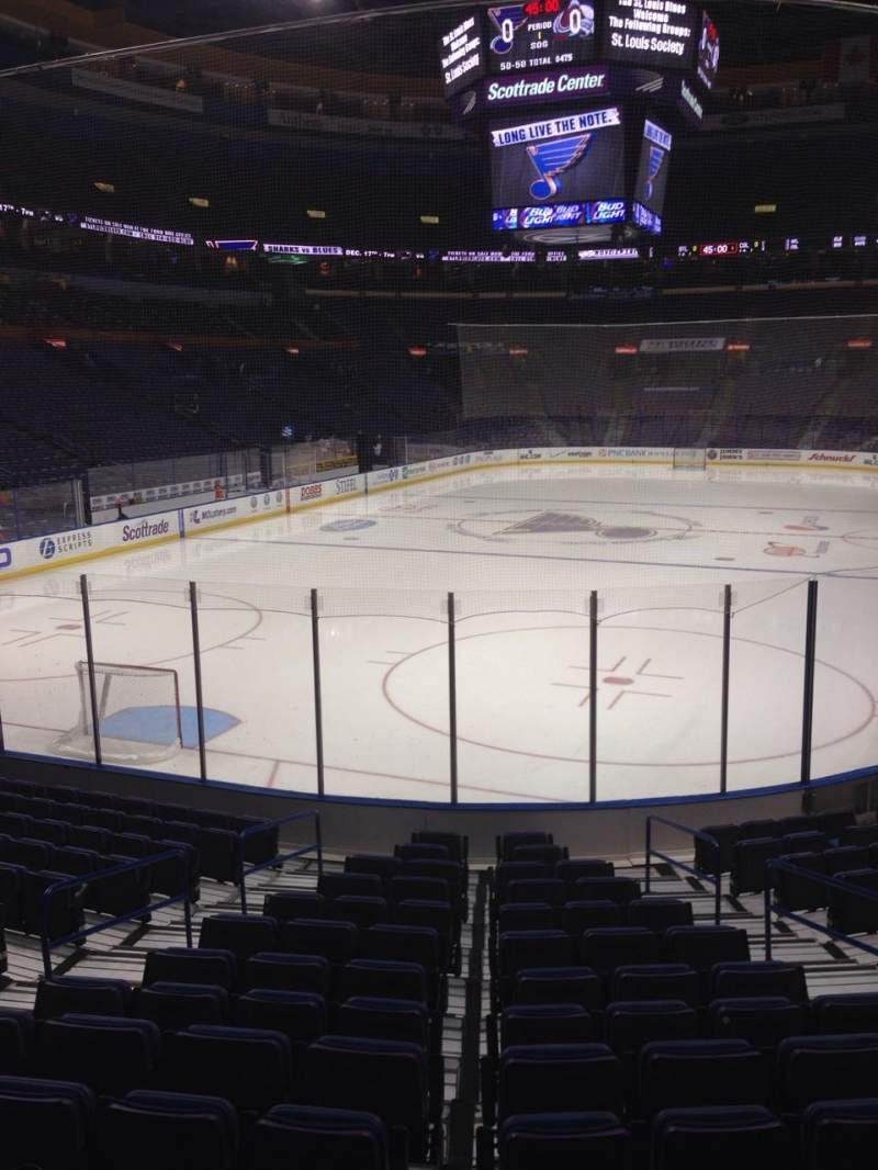 Vue de la place pour Scottrade Center Section 121 Rangée P Siège 5