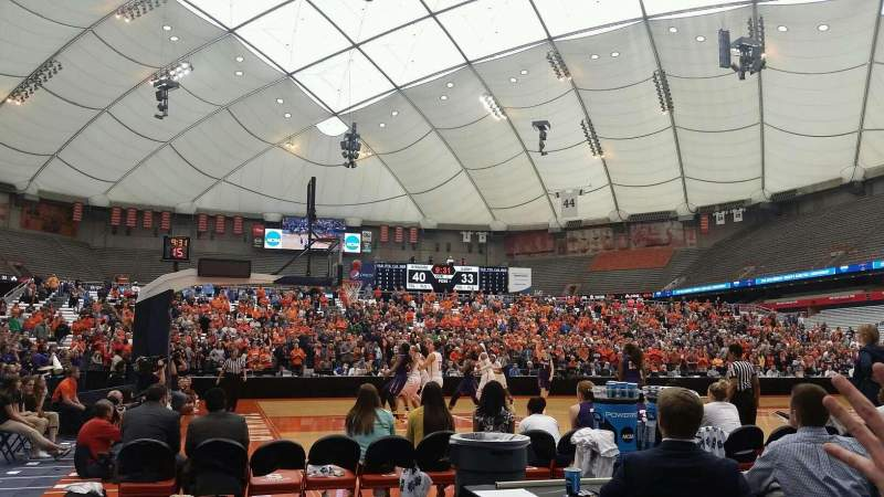Carrier Dome, section: 109, rangée: CC, siège: 14