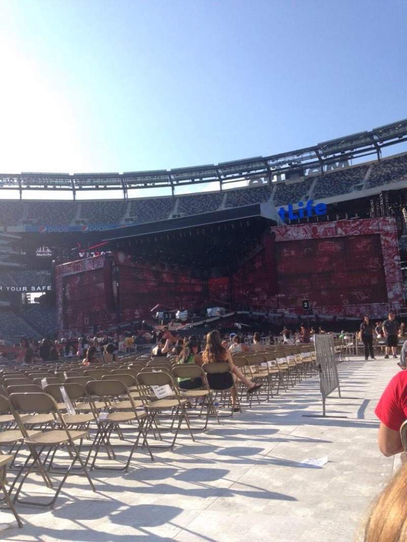 Vue de la place pour Metlife Stadium Section 7