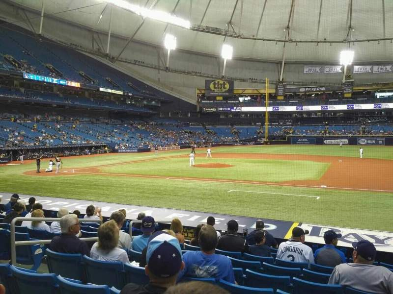 Tropicana Field, section: 118, rangée: U, siège: 7