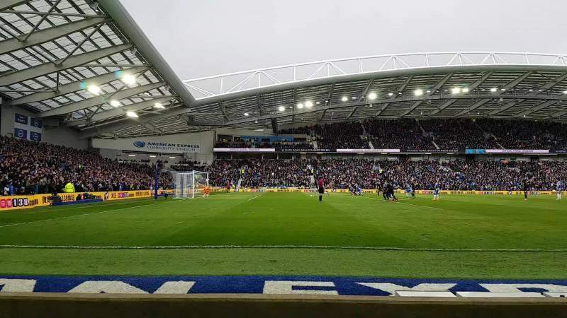 American Express Community Stadium, section: W1H, rangée: C, siège: 193