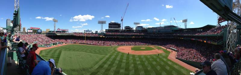 Fenway Park, section: Green Monster 2, rangée: SRO