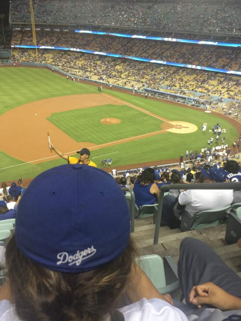 Dodger Stadium, section: 27RS, rangée: U, siège: 1