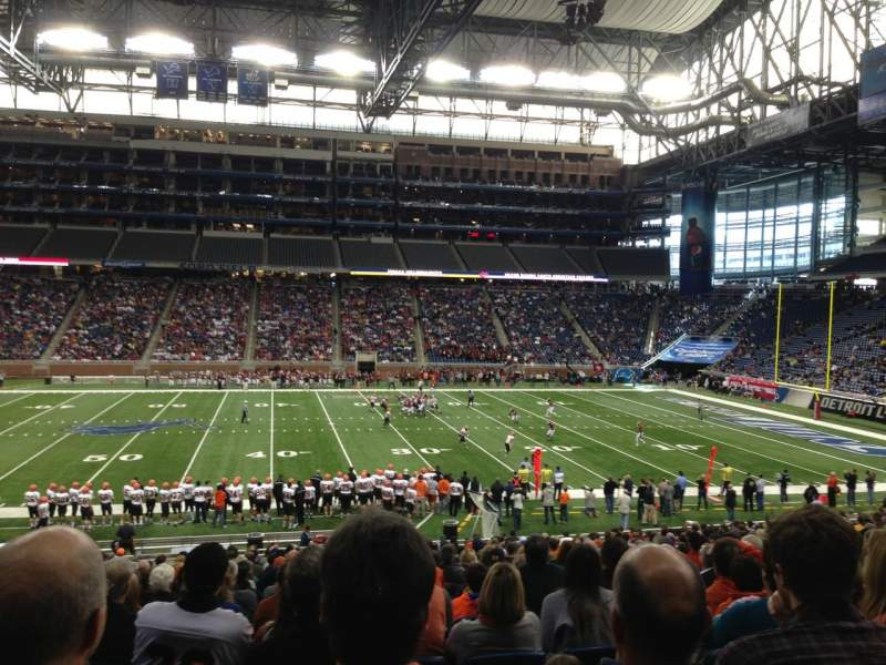Ford Field, section: 128, rangée: 30, siège: 4