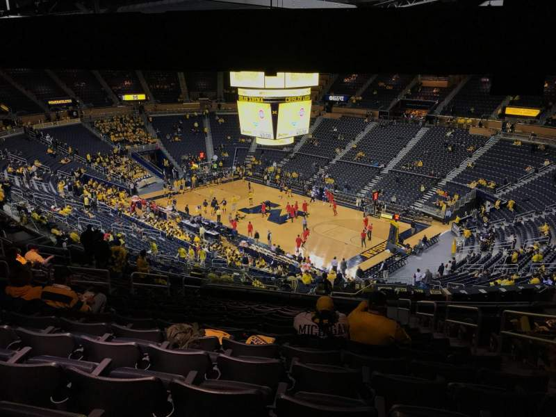 Crisler Center, section: 219, rangée: 40, siège: 3
